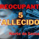 Coronavirus – 5 FALLECIDOS ENTRE AYER VIERNES Y HOY SABADO EN LA REGION